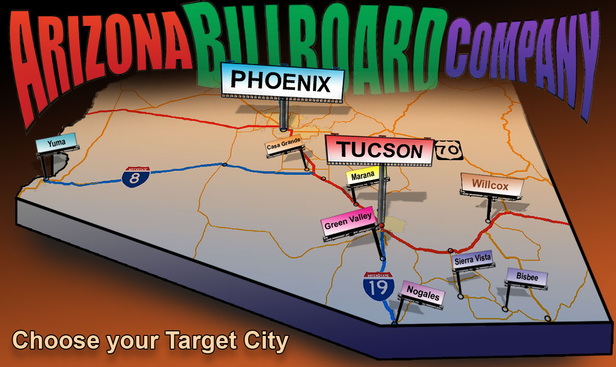 Billboard Advertising Service areas for Arizona Billboard Company