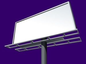 blank billboard in Arizona